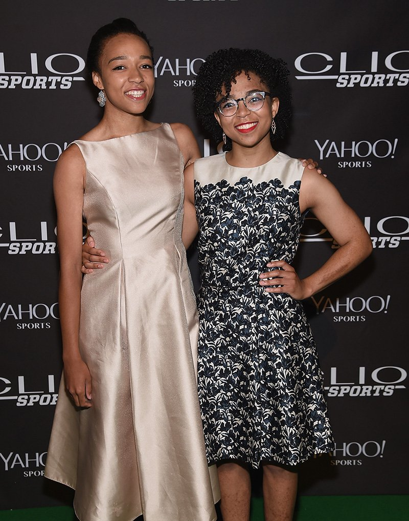 Taelor Scott and Sydni Scott (Stuart Scott's daughters) attend the 2015 CLIO Sports Awards at Cipriani 42nd Street on July 8, 2015 in New York City. I Image: Getty Images.
