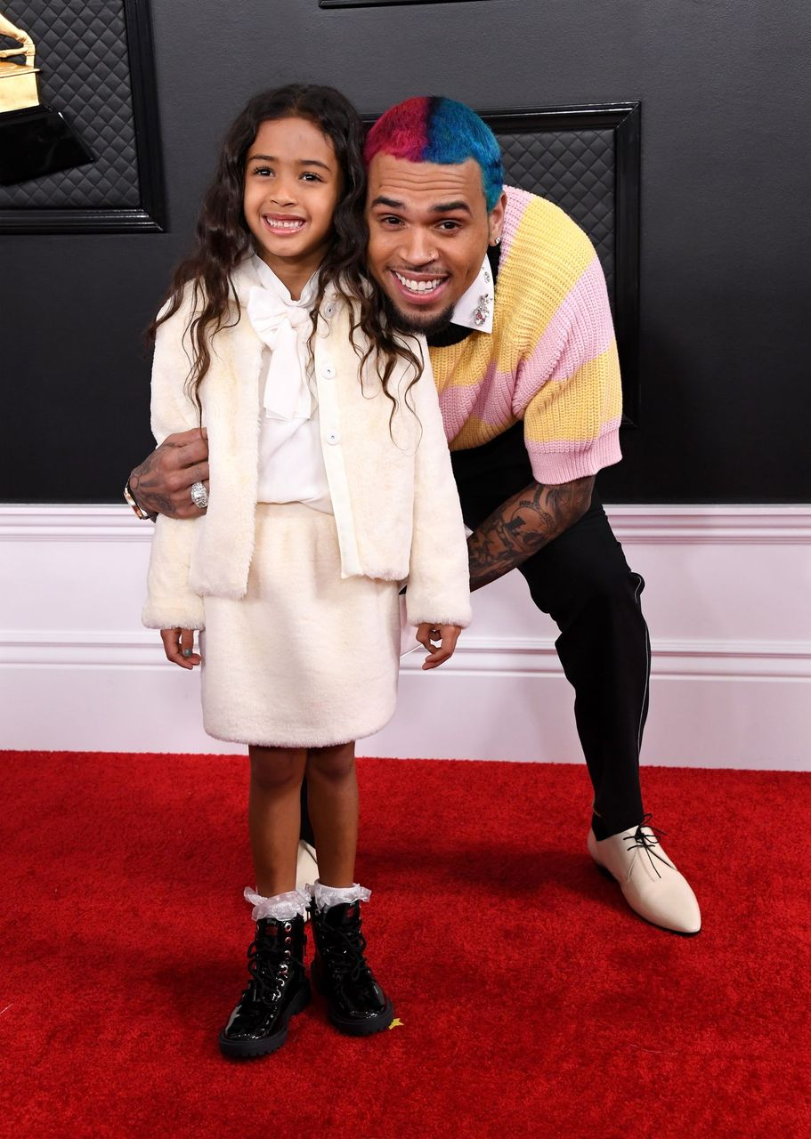 Chris Brown and Royalty Brown during the 62nd Annual Grammy Awards at Staples Center on January 26, 2020 in Los Angeles, California. | Source: Getty Images