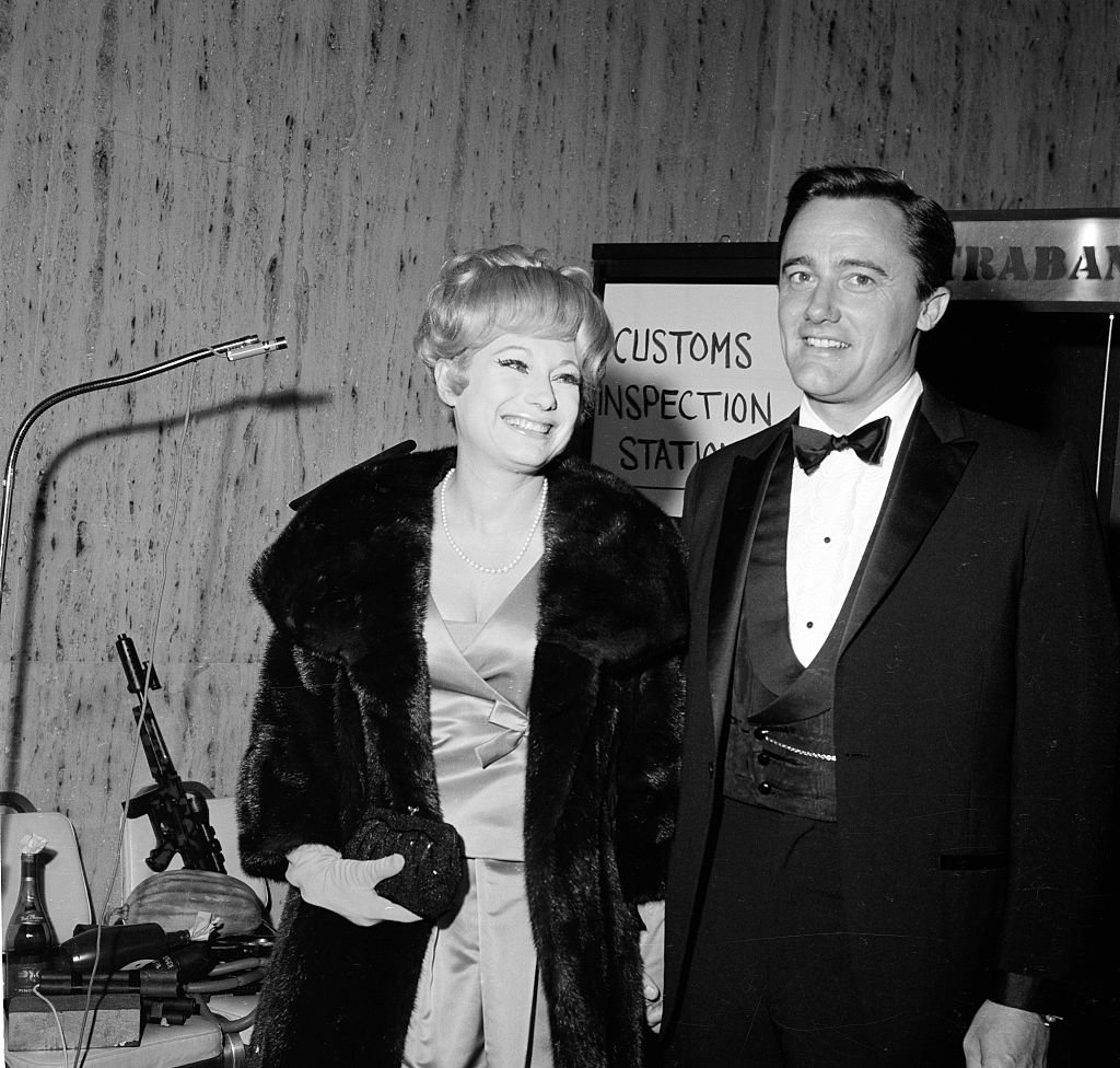 Actor Robert Vaughn and Joyce Jameson attend an event in Los Angeles,CA on January 1, 1966. | Photo: Getty Images