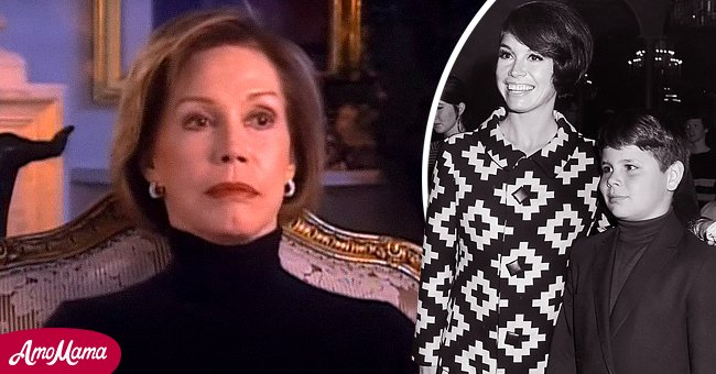 Pictures of Mary Tyler Moore with her son, Richie   Photo: Getty Images   youtube.com/FoundationINTERVIEWS
