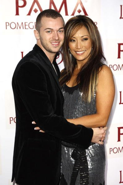 Artem Chigvintsev and Carrie Ann Inaba at Les Deux on January 7, 2008 in Los Angeles, California | Photo: Getty Images