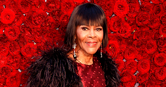Cicely Tyson of 'the Help' Rocks Red Dress & Black Leather Gloves at Grand Opening of Tyler Perry's New Studio