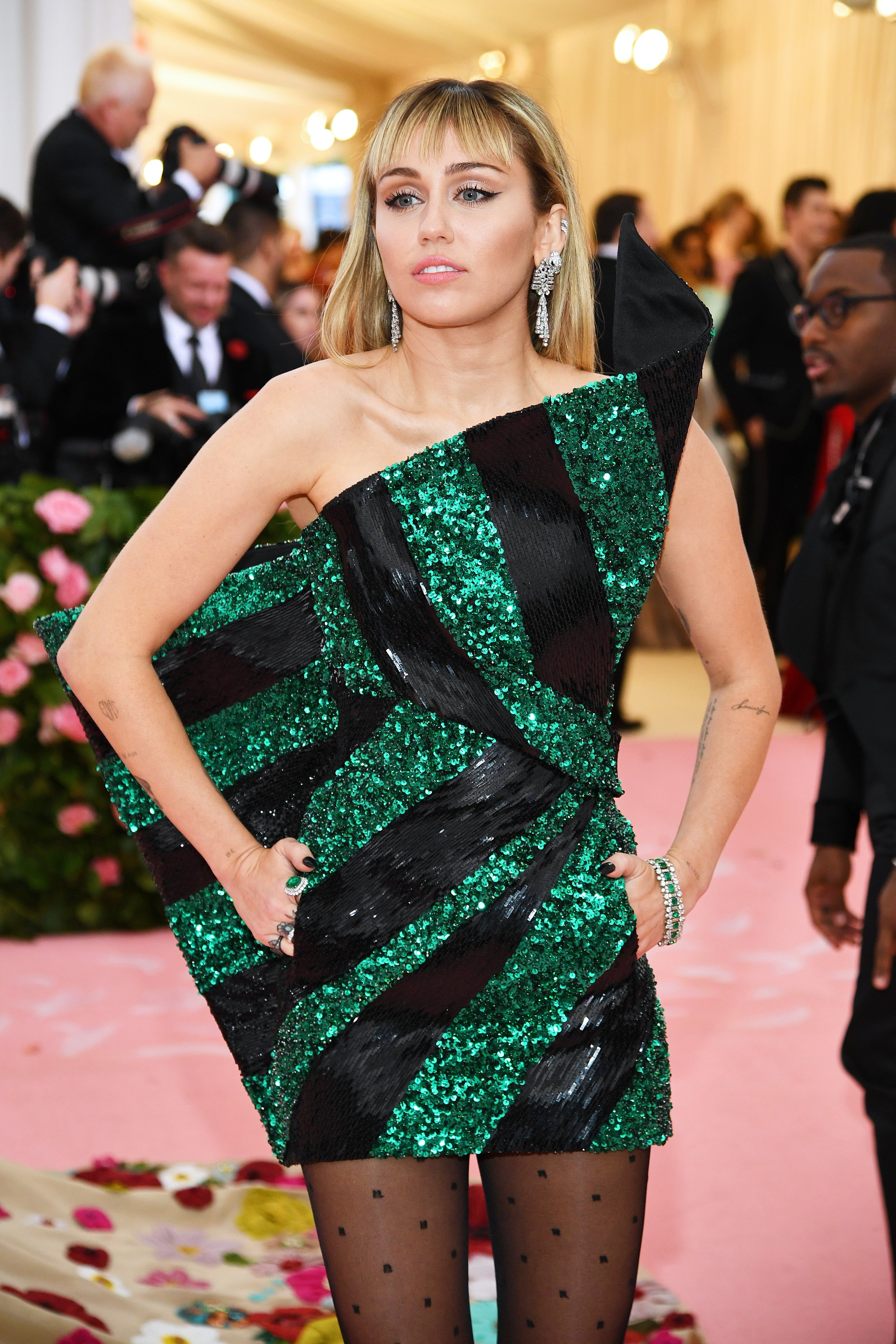 Miley Cyrus at The Met Gala Celebrating Camp: Notes on Fashion at Metropolitan Museum of Art on May 06, 2019 in New York City | Photo: Getty Images
