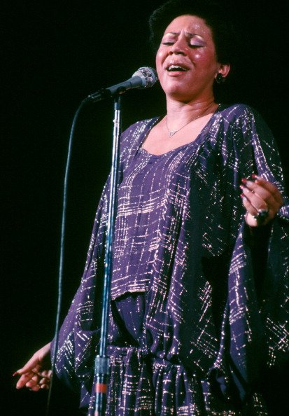 Minnie Riperton performing on stage in New York, 1977   Photo: Getty Images