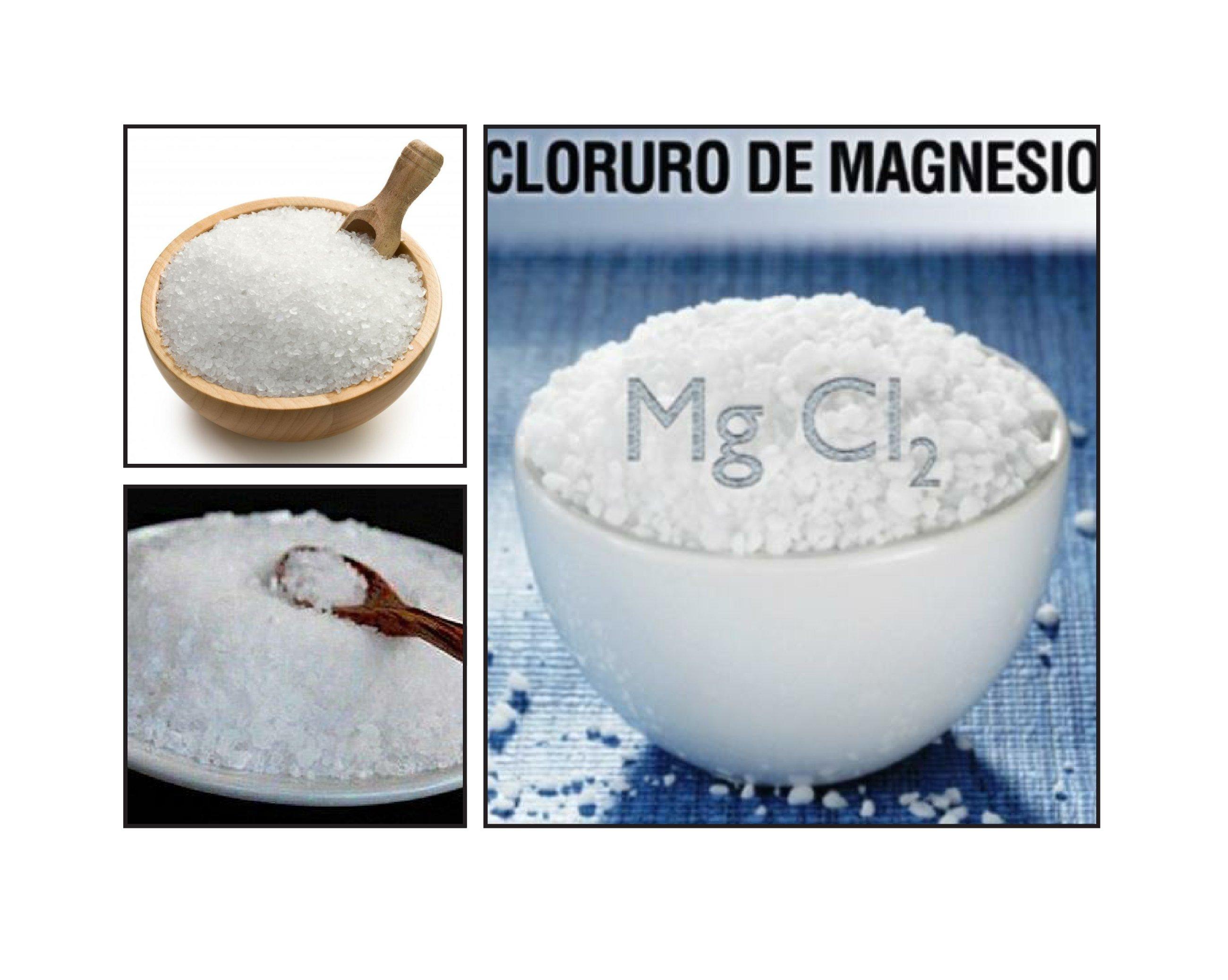 Cloruro de magnesio   Foto: Wikimedia
