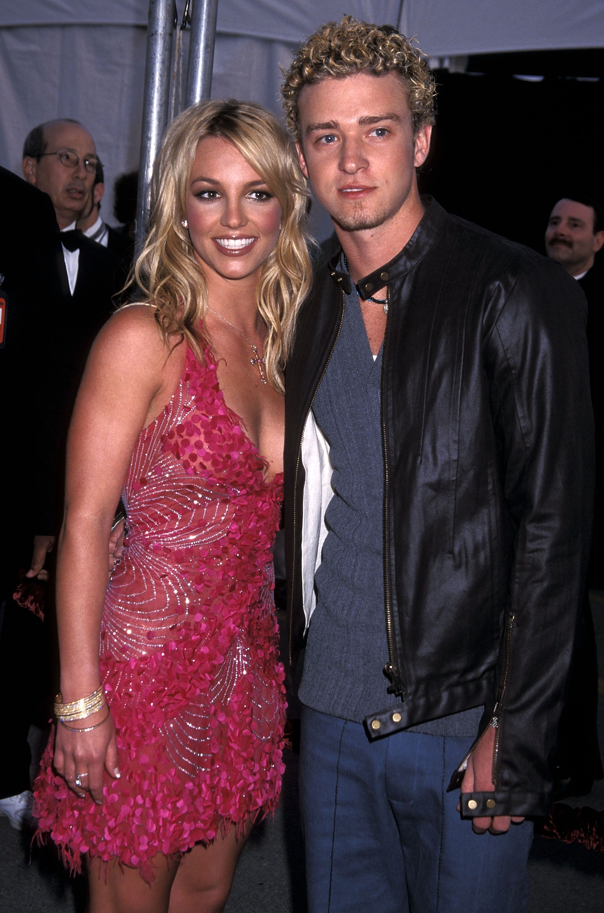 Britney Spears and Justin Timberlake of N'Sync at the 29th Annual American Music Awards in 2002 in Los Angeles | Source: Getty Images
