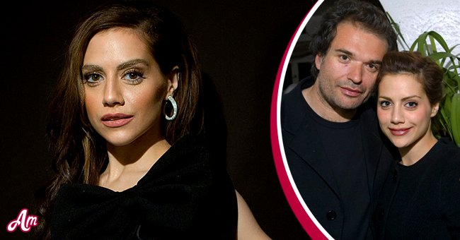 Photo of Brittany Murphy combined with a photo of her and her husband Simon Monjack   Photo: Getty Images