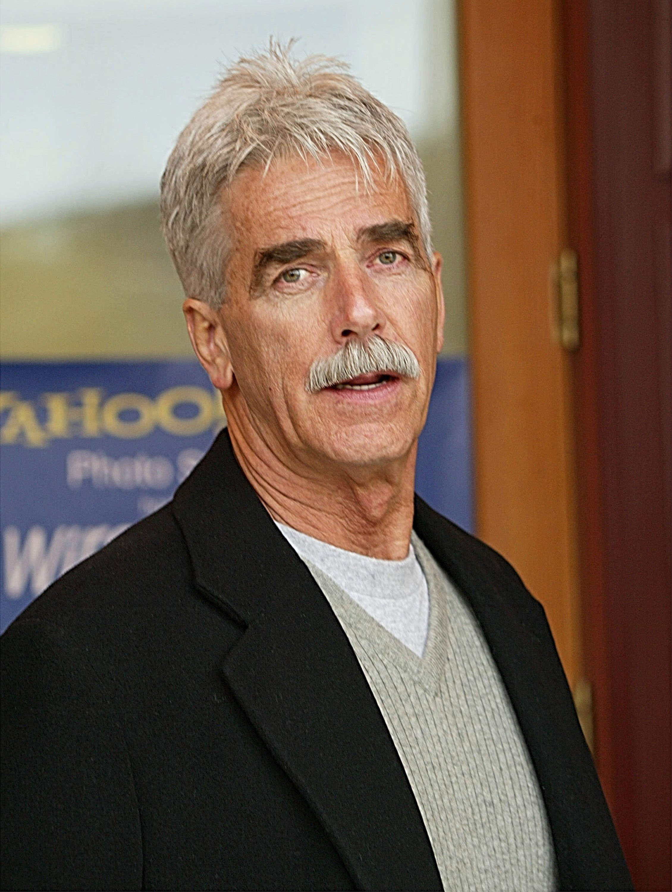 """""""A Star is Born"""" actor Sam Elliott attends the 2003 press conference for the """"Masked and Anonymous"""" film in Park City, Utah. 