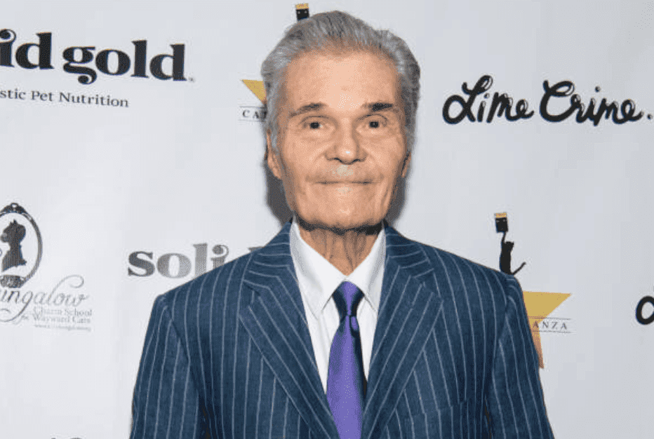 "Fred Willard arrives on the red carpet for ""CATstravaganza featuring Hamilton's Cats,"" on April 21, 2018 in Hollywood, California 