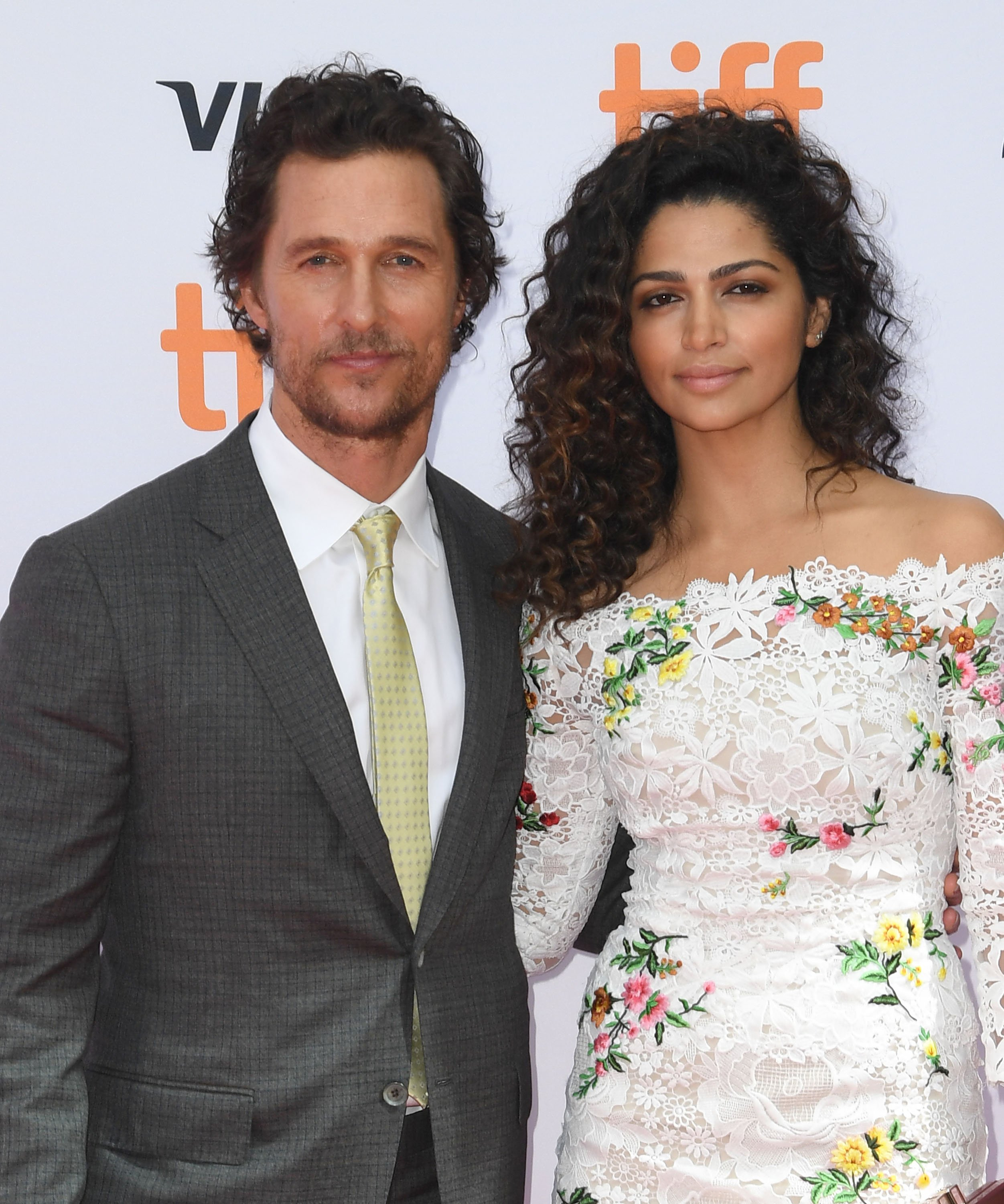 """Matthew McConaughey and wife Camila Alves at the """"Sing"""" premiere in Toronto, September, 2016. 
