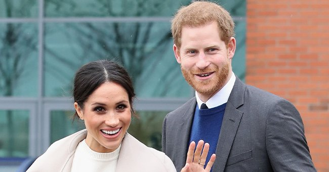 Prince Harry & Archie Hug Pregnant Meghan Markle in a Photo Honoring International Women's Day