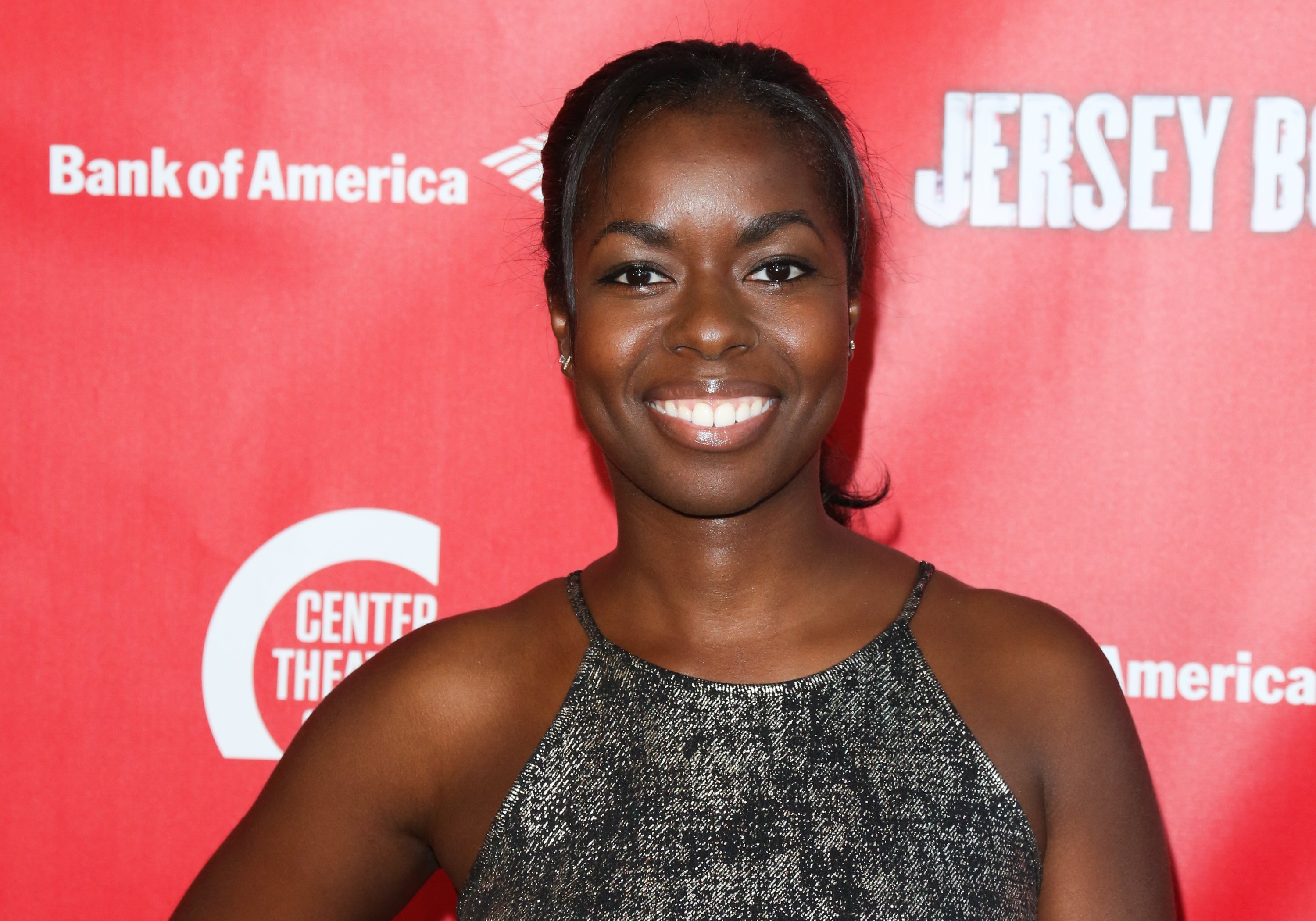 "Camille Winbush at a showing of ""Jersey Boys"" at the Ahmanson Theatre on May 18, 2017 in Los Angeles, California. 
