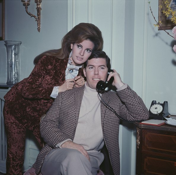 Raquel Welch with her husband and manager, Patrick Curtis in Paris on 15th February 1967   Photo: Getty Images