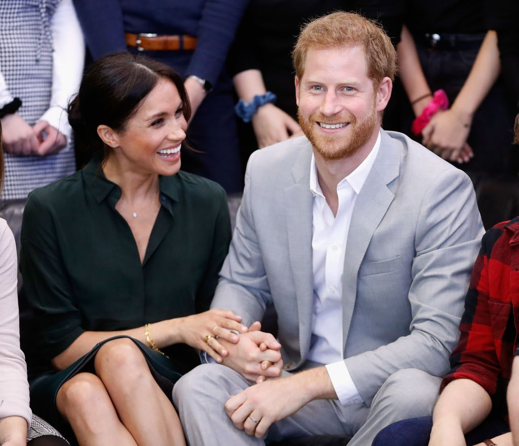Duchess of Sussex and Prince Harry, Duke of Sussex make an official visit to the Joff Youth Centre in Peacehaven, Sussex on October 3, 2018 in Peacehaven UK | Photo: Getty Images