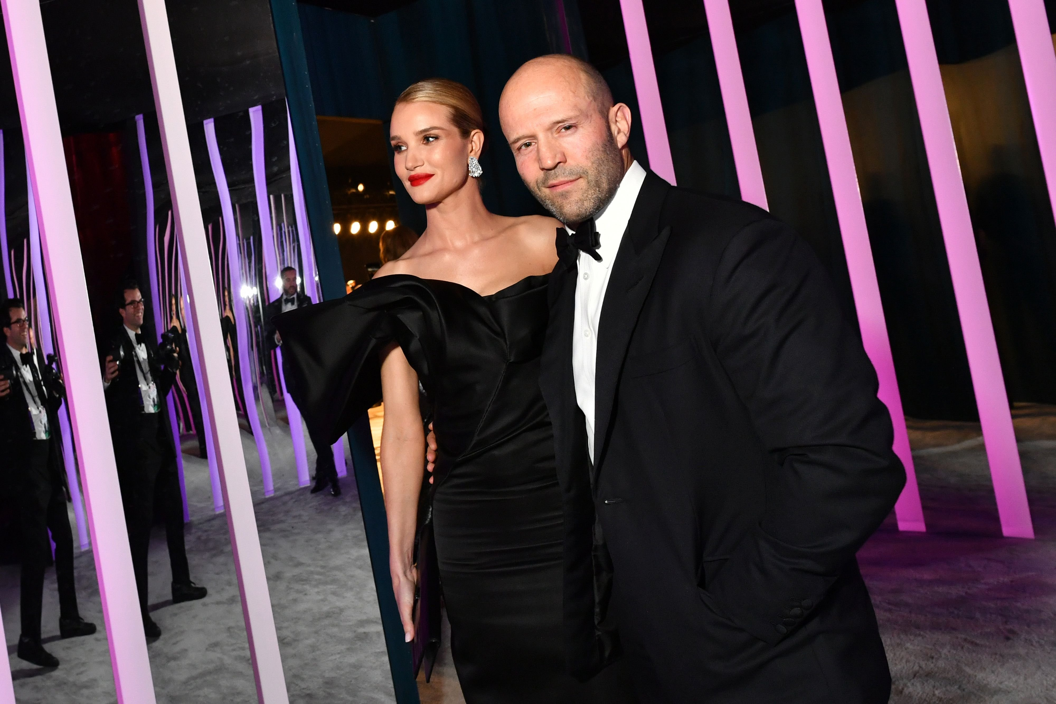 Rosie Huntington-Whiteley and Jason Statham at the 2020 Vanity Fair Oscar Party in February 2020 in Beverly Hills, California | Source: Getty Images