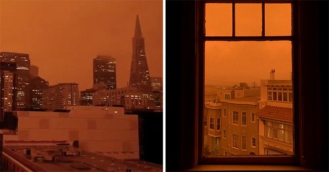 Parts of the Sky in California Became Orange Due to the Raging Wildfires in the Area
