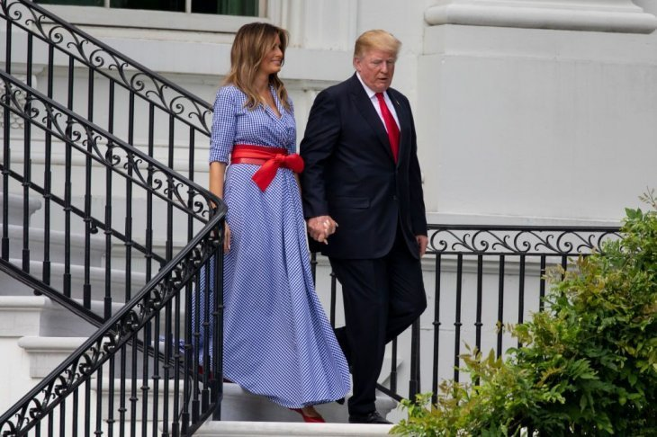 Melania Trump Honors 4th Of July In Red White And Blue