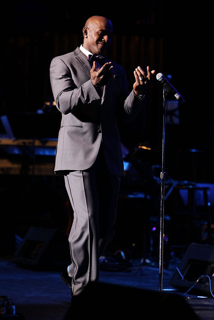 "NFL player Donald Driver performs during ""A New Day: Concert For A Cause"" at Saban Theatre 