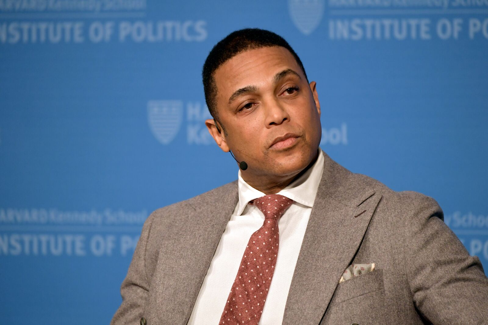 "CNN's Don Lemon speaks at Harvard University Kennedy School of Government Institute of Politics in a program titled ""Race, Media and Politics"" on February 22, 2019 