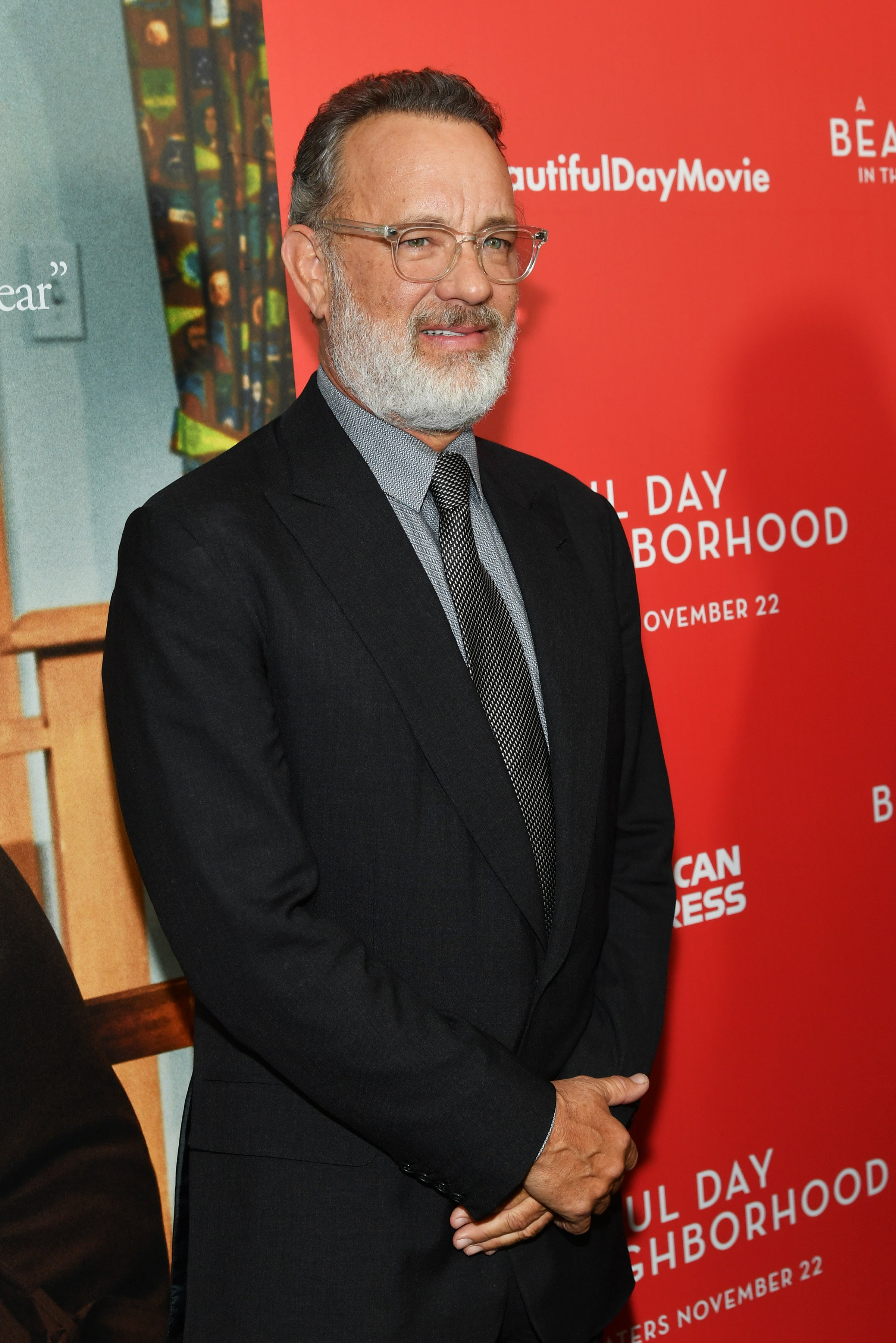 """Tom Hanks attends """"A Beautiful Day In The Neighborhood"""" New York Screening at Henry R. Luce Auditorium at Brookfield Place on November 17, 2019, in New York City. 