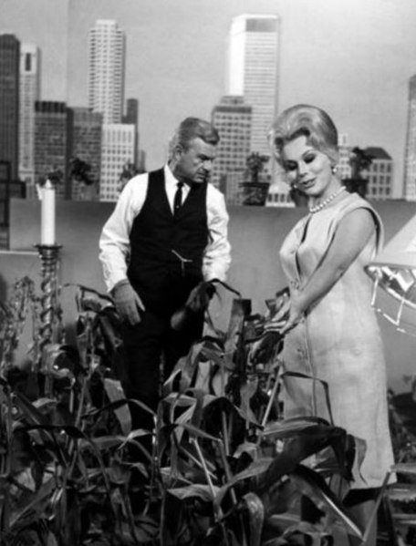 Eddie Albert and Eva Gabor, 1965. | Source: Wikimedia Commons