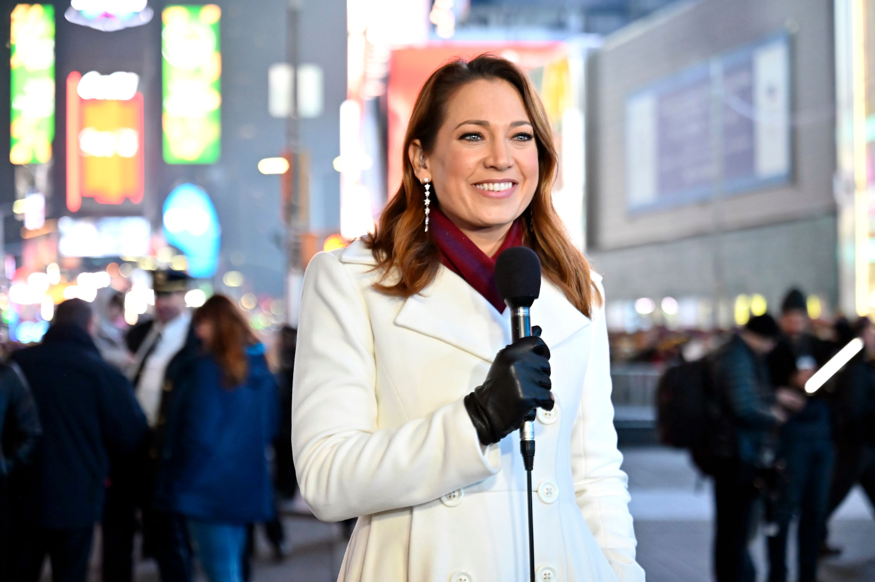 Ginger Zee in Times Square on New Year's Eve 2019 | Source: Getty Images