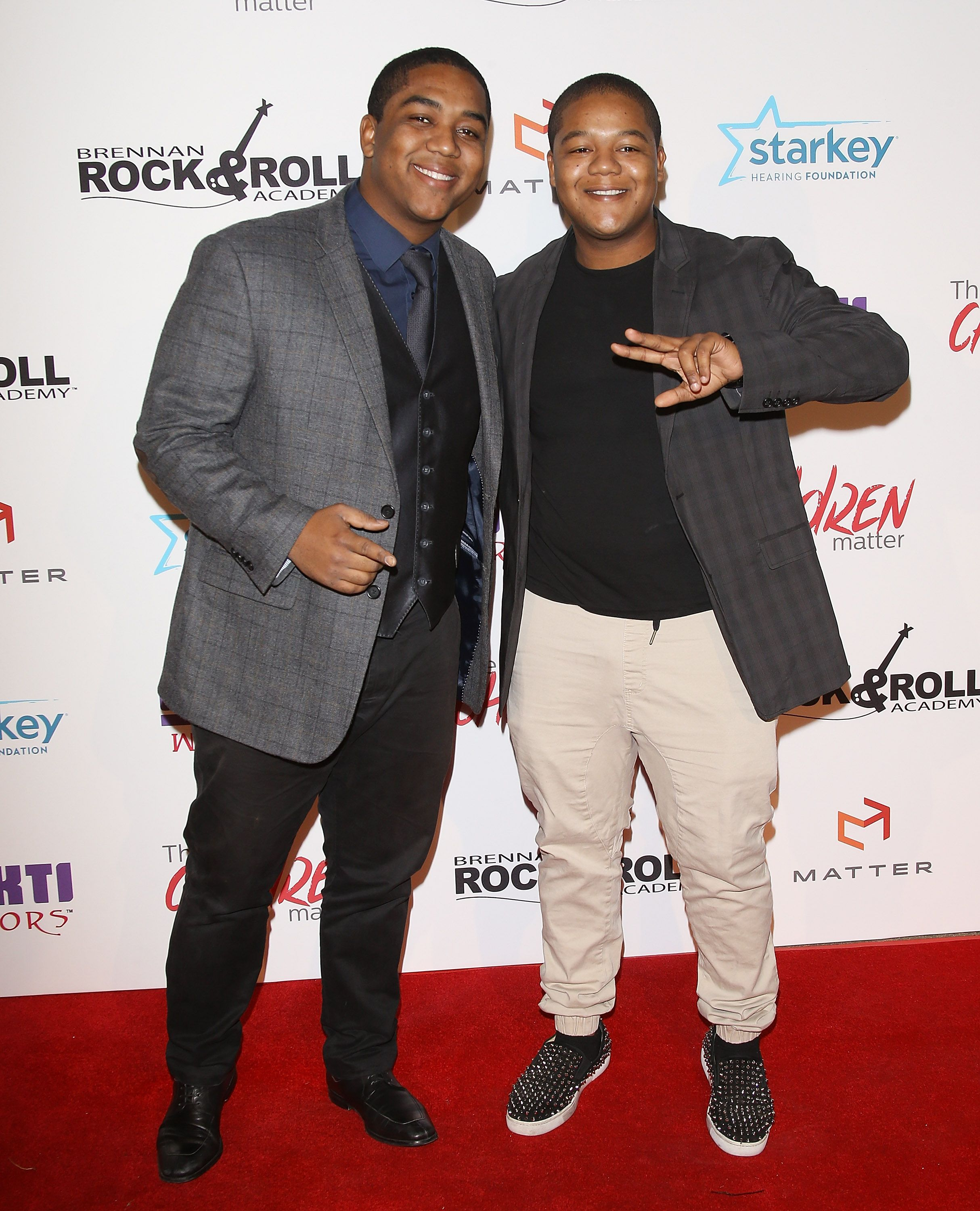 Christopher Massey and Kyle Massey arrive at The Children Matter.NGO 1st Annual Gala held on November 7, 2015 in Beverly Hills, California. | Source: Getty Images