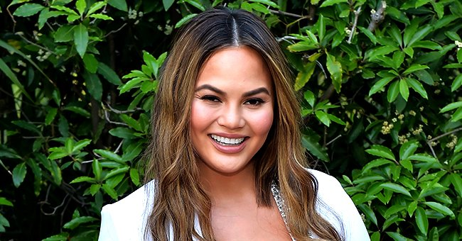 Chrissy Teigen Jokingly Expresses Her Love of Football with a Throwback Photo