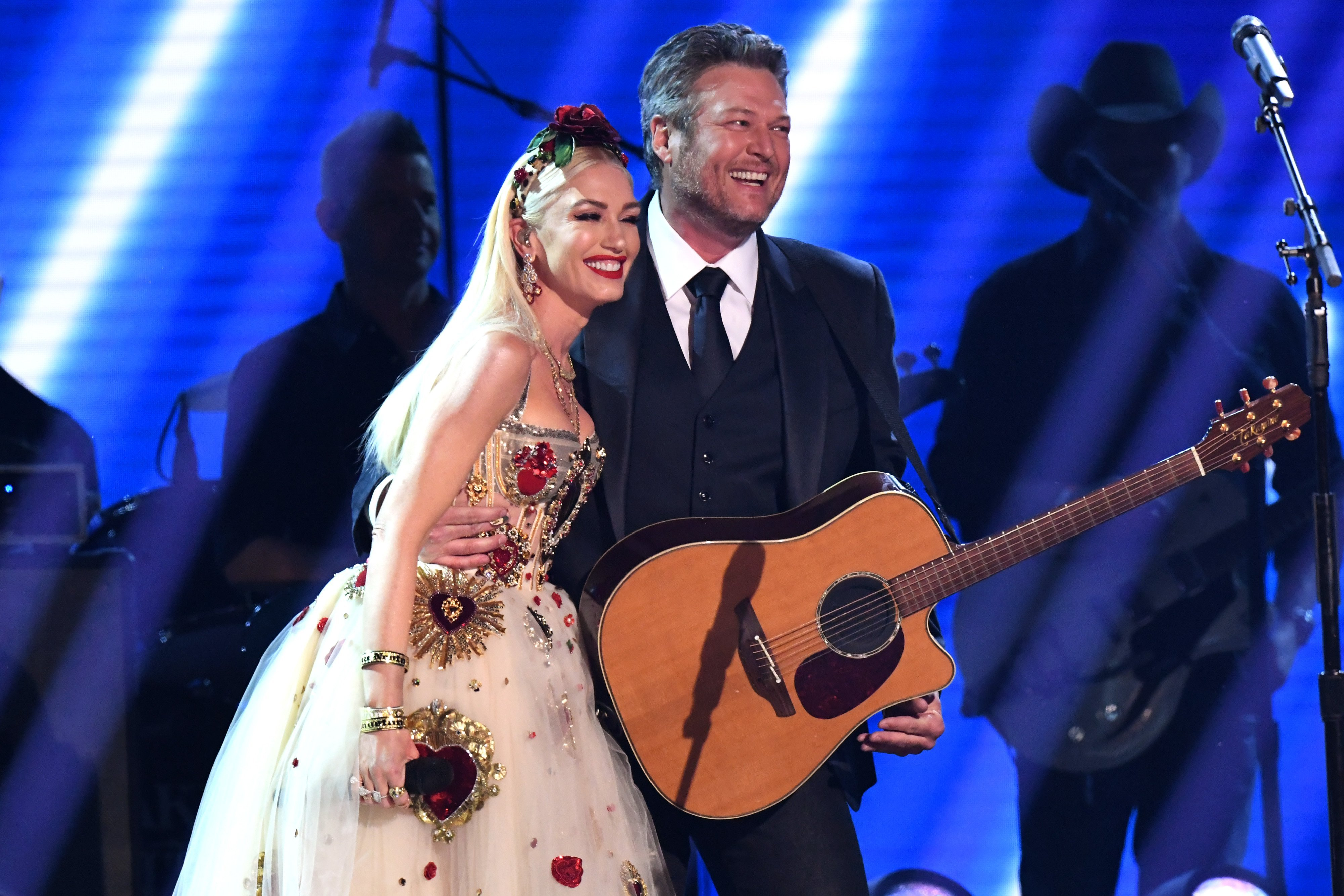 Gwen Stefani and Blake Shelton onstage during the 62nd Annual GRAMMY Awards at Staples Center on January 26, 2020, in Los Angeles, California. | Source: Getty Images.