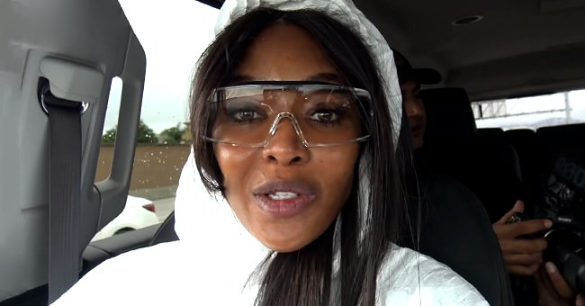 Naomi Campbell Pairs Hazmat Suit with Goggles and Face Shield during Airplane Travel Amid Pandemic