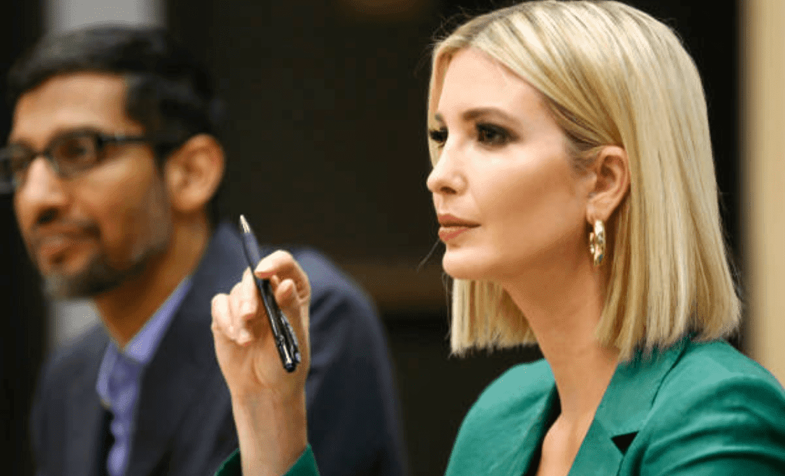 Ivanka Trump and the CEO of Google, Sundar Pichai, host a roundtable discussion on assisting American workers in the changing economy, on October 3, 2019 in Dallas, Texas | Source: Ron Jenkins/Getty Images