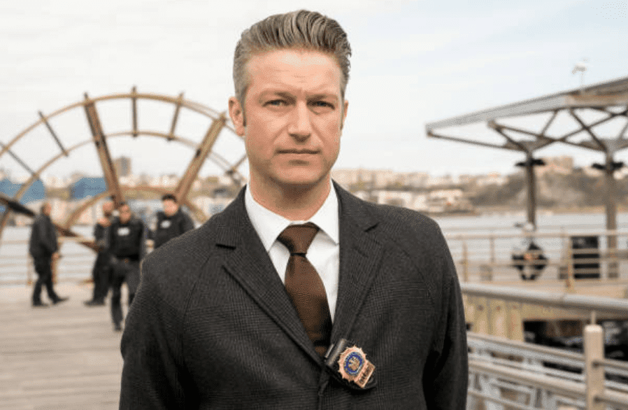 """Peter Scanavino as Dominick """"Sonny"""" Carisi"""" on the set of """"Law and Order: SVU"""" during the episode titled, """"End Game,"""" Episode 2024 