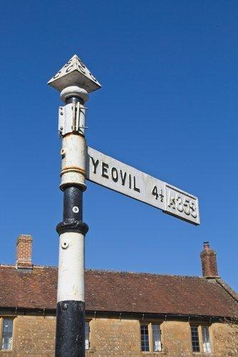 Panneau de rue à Yeovil, Somerset, Angleterre. | Source : Shutterstock