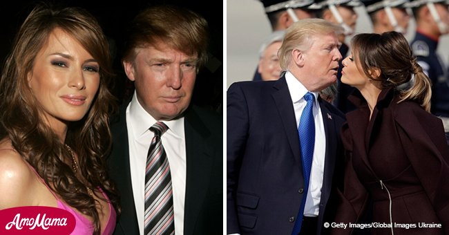 Flashback to Melania and Donald's early relationship