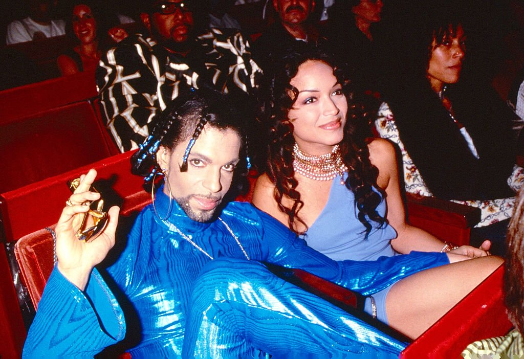 Late Prince and his ex wife, choreographer and dancer Mayte Garcia at the MTV Video Music Awards on September 9, 1999.   Photo: Getty Images