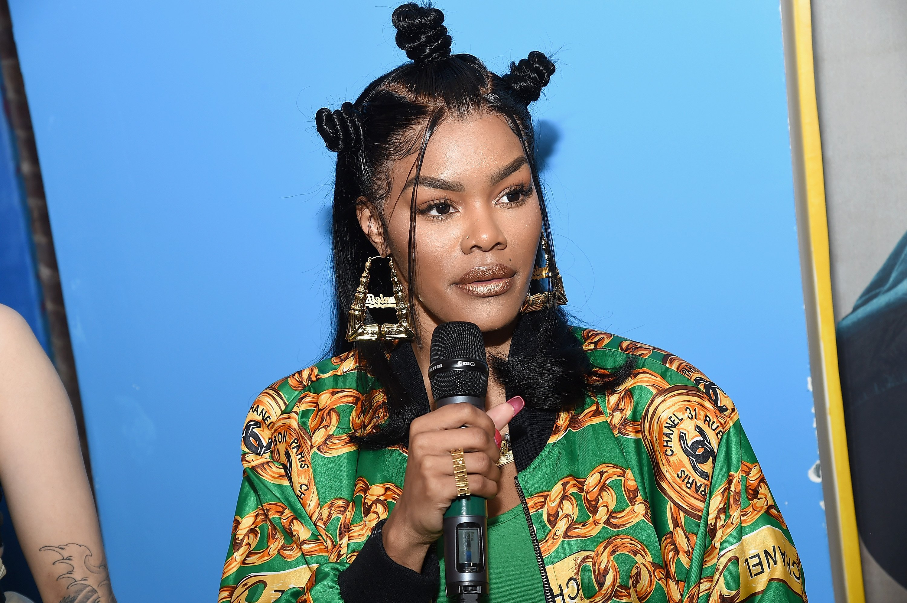 Teyana Taylor pictured at the Junie Bee Nail Salon grand opening on February 15, 2018 in New York City. | Source: Getty Images