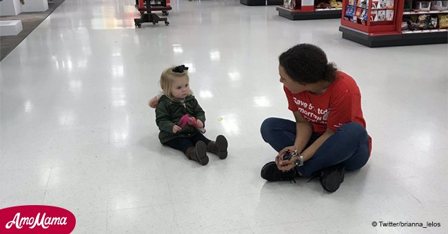 Empleado de Target usa brillante técnica para poner fin a berrinche de niño en video viral