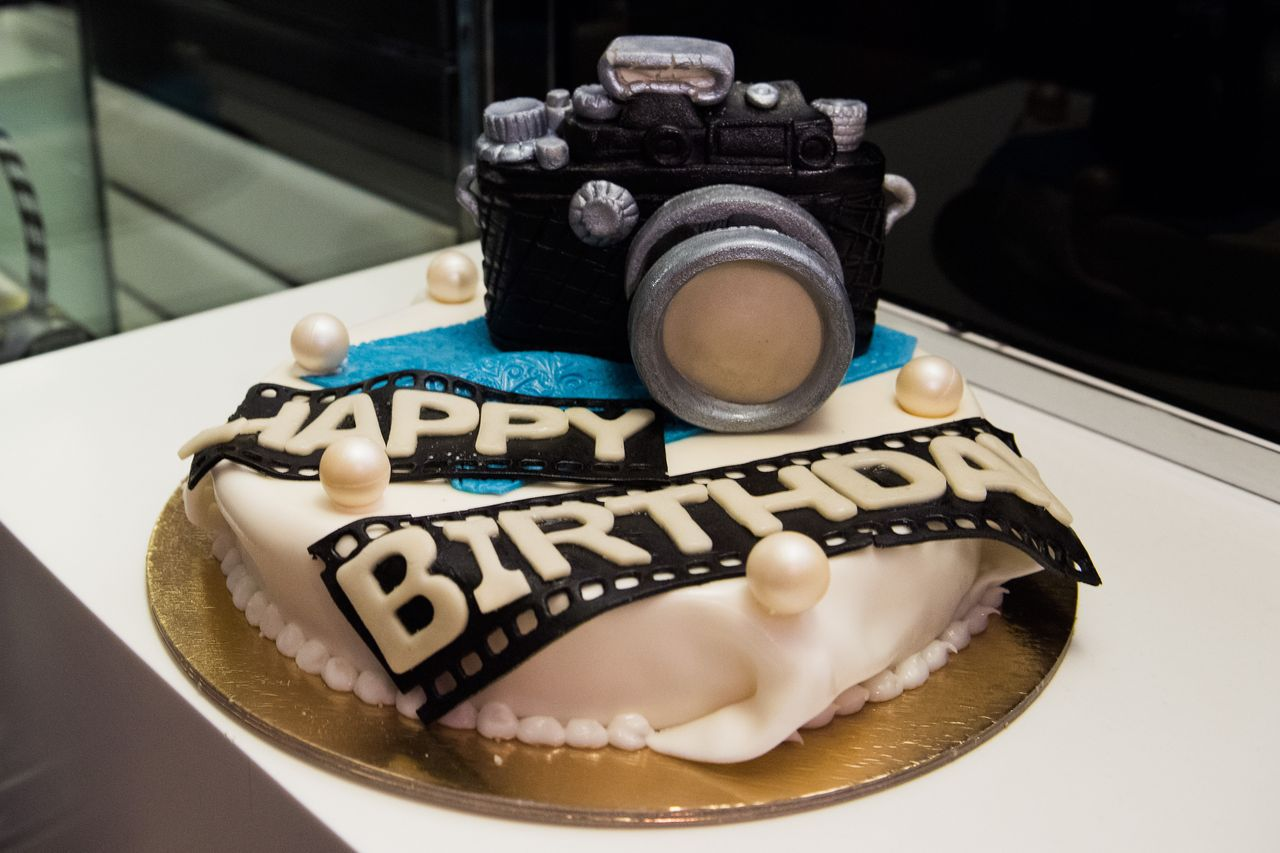 A birthday cake for photographer Rankin at KaDeWe on April 30, 2016 in Berlin, Germany. | Source: Getty Images