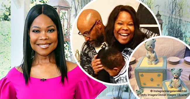 Angela Robinson posts sweet photo with husband of 22 yrs & their baby son on his dedication day