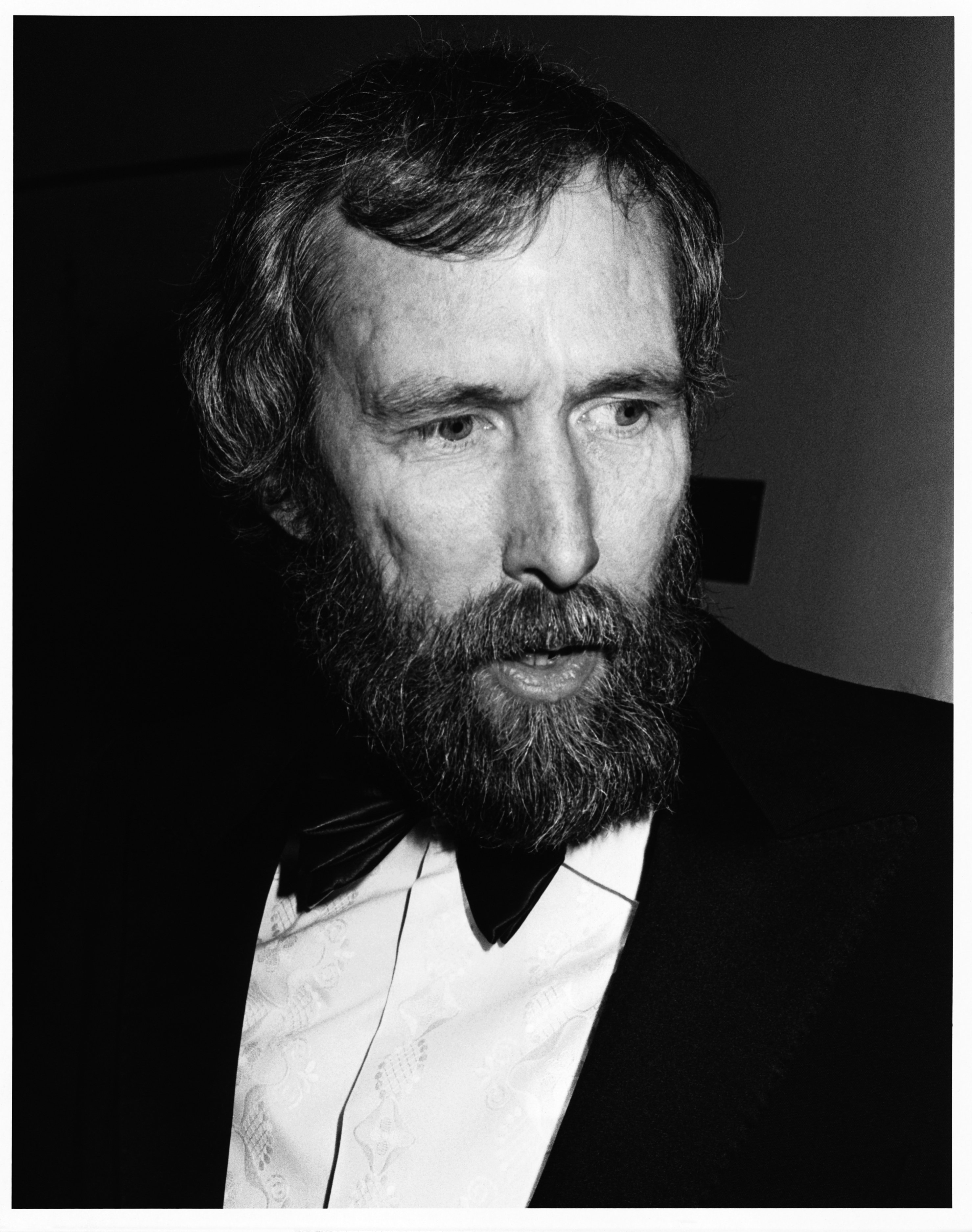 """Jim Henson (1936-1990), the American puppeteer and creator of the the """"Muppets"""" and Sesame Street attends the 1985 British Academy of Film and Television Arts (BAFTA) award ceremony. Source: Getty Images"""