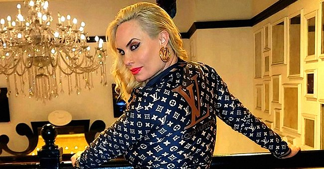 Ice-T's Wife Coco Austin Flaunts Her Buttocks as She Poses in a Louis Vuitton Tracksuit (Photo)