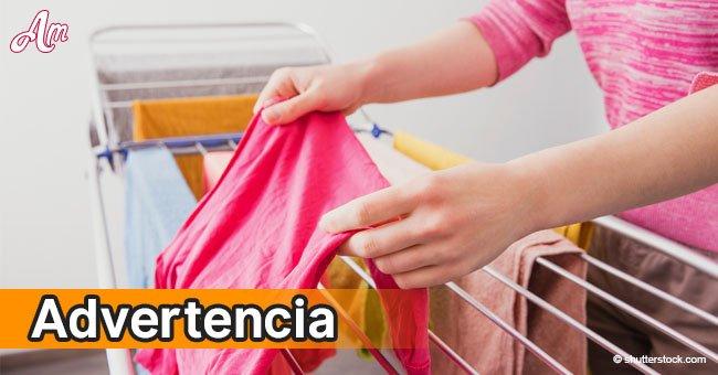 Tu salud puede estar en peligro si secas la ropa dentro de tu hogar
