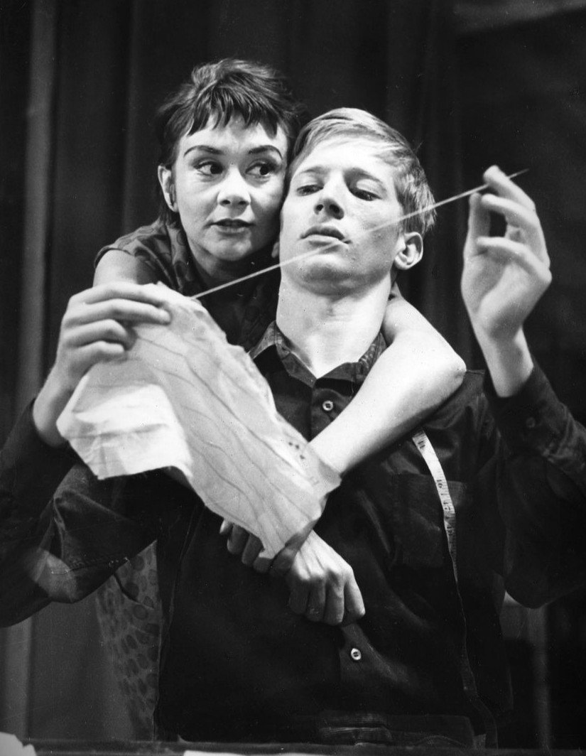 "Joan Plowright as Jo and Andrew Ray as Geoff from the 1960 Broadway production of ""A Taste of Honey."" 