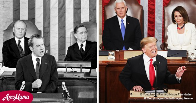 Viewers Find a Similarity Between President Trump and President Nixon's Sotu Address