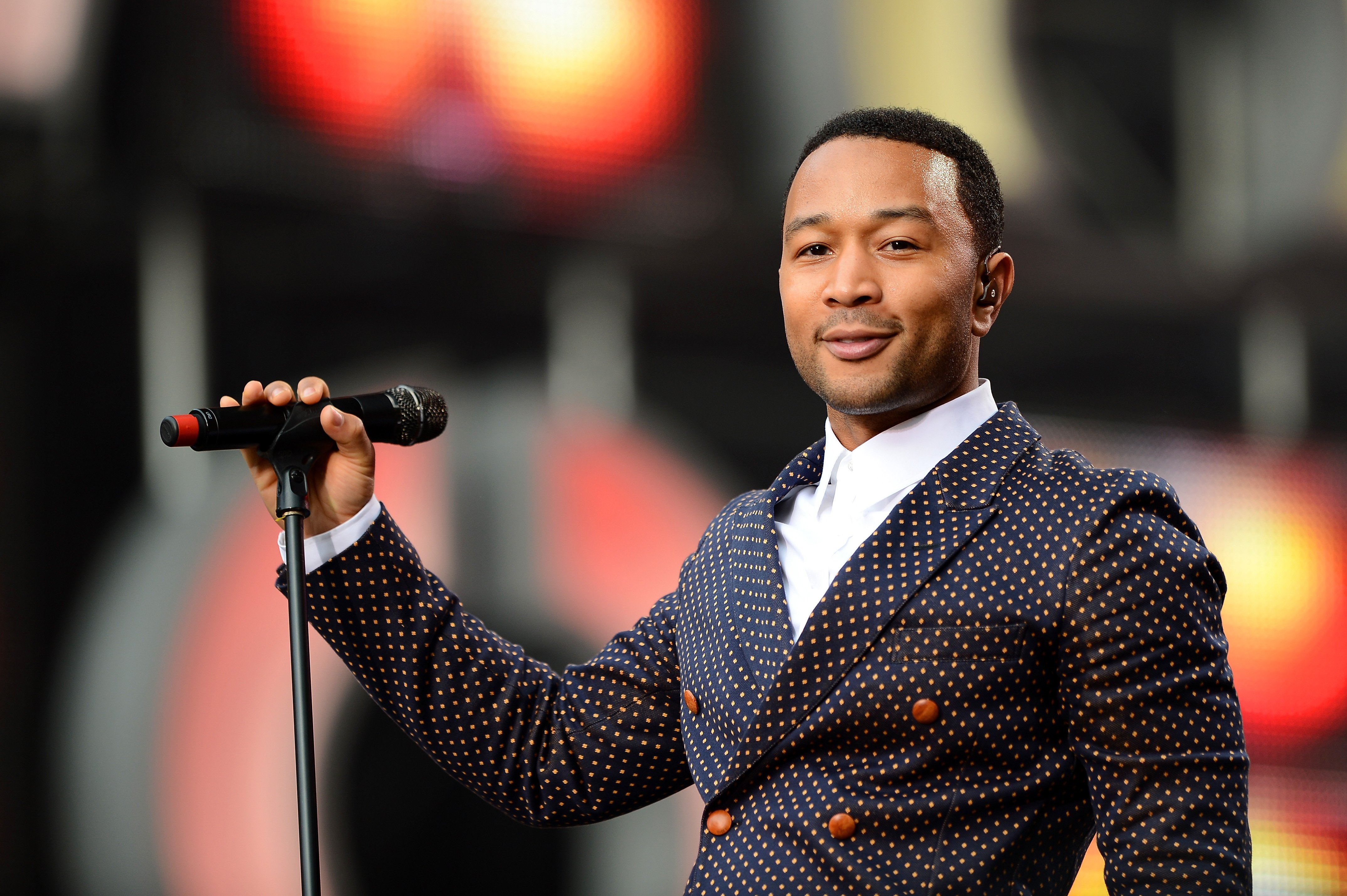 """John Legend performs on stage at the """"Chime For Change: The Sound Of Change Live"""" Concert at Twickenham Stadium on June 1, 2013 