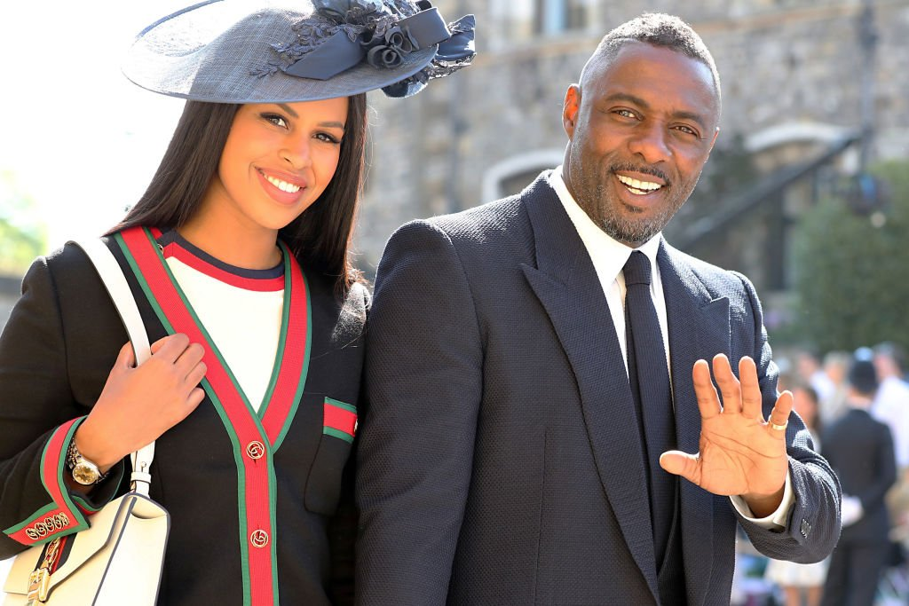 Idris Elba and Sabrina Dhowre arrive at St George's Chapel at Windsor Castle before the wedding of Prince Harry to Meghan Markle on May 19, 2018   Photo: Getty Images