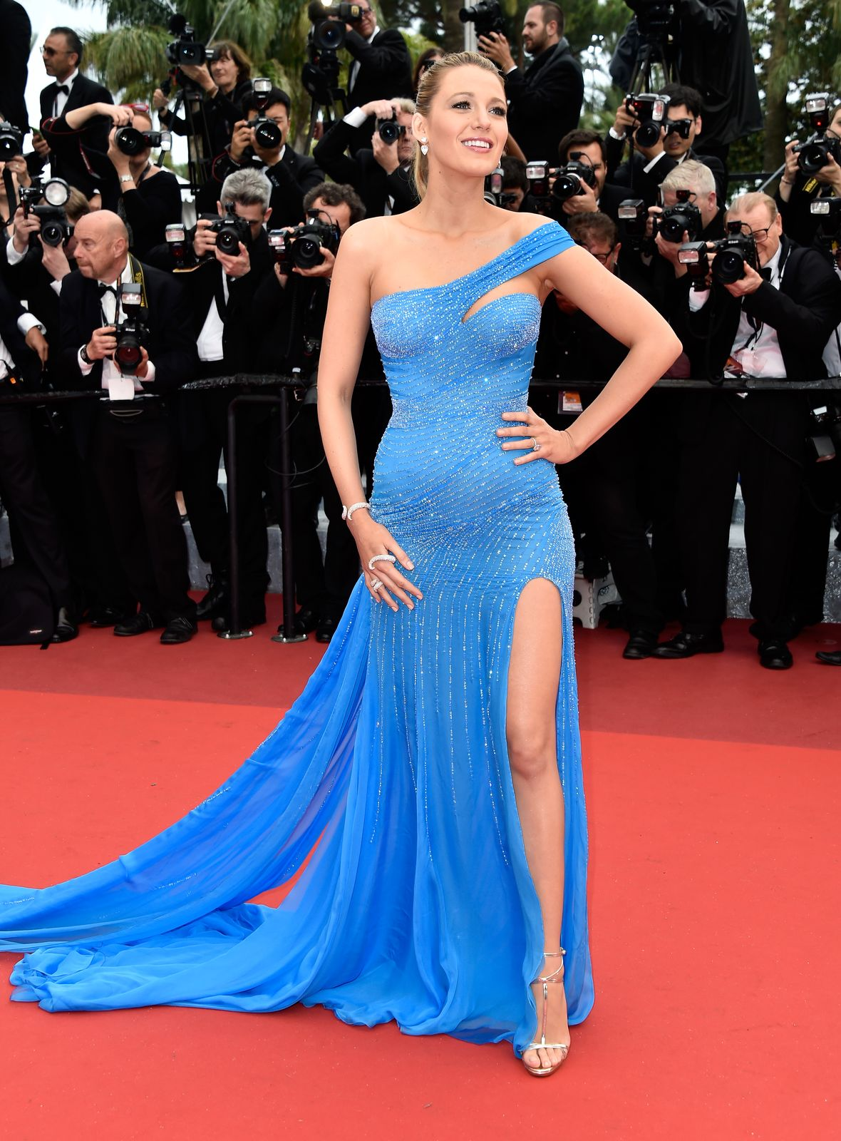 """Blake Lively at """"The BFG (Le Bon Gros Geant - Le BGG)"""" premiere during the 69th annual Cannes Film Festival on May 14, 2016, in France 