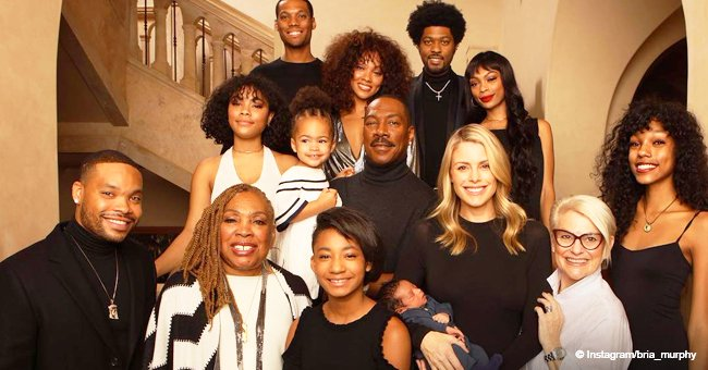 Eddie Murphy introduces 3-week-old son Max in first family picture with all of his 10 children