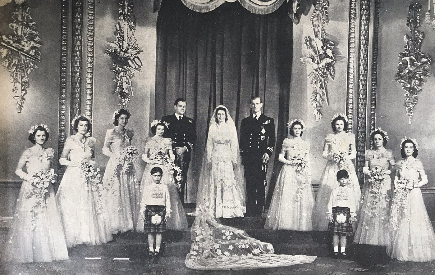 Une image du mariage de la reine Elizabeth II. | Photo : Getty Images