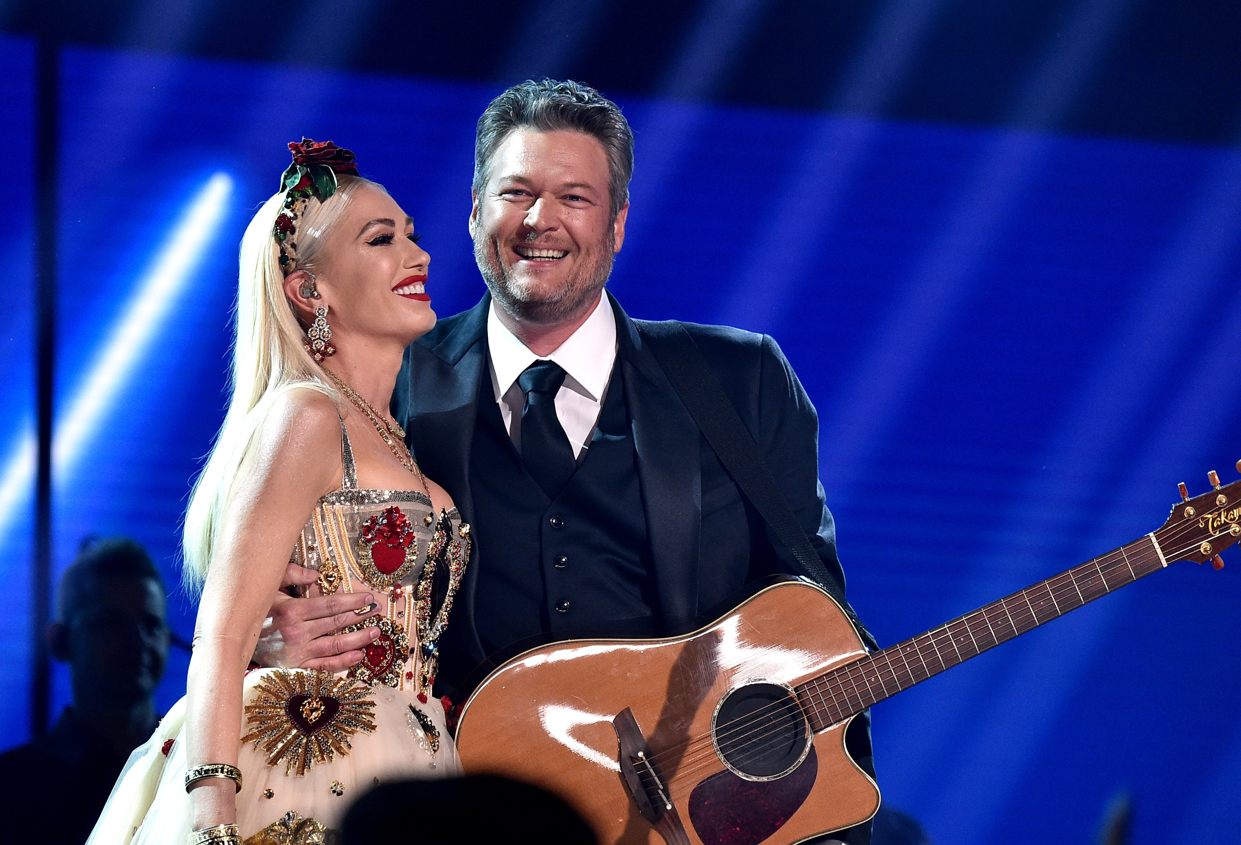 Gwen Stefani and Blake Shelton perform at the 62nd Annual GRAMMY Awards on January 26, 2020, in Los Angeles, California. | Source: Getty Images.